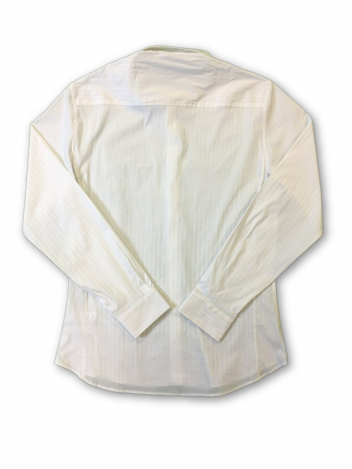 Versace-Jeans-039-Elegant-039-slim-fit-shirt-in-white-and-silver-stripe-rrp-179-99 thumbnail 7
