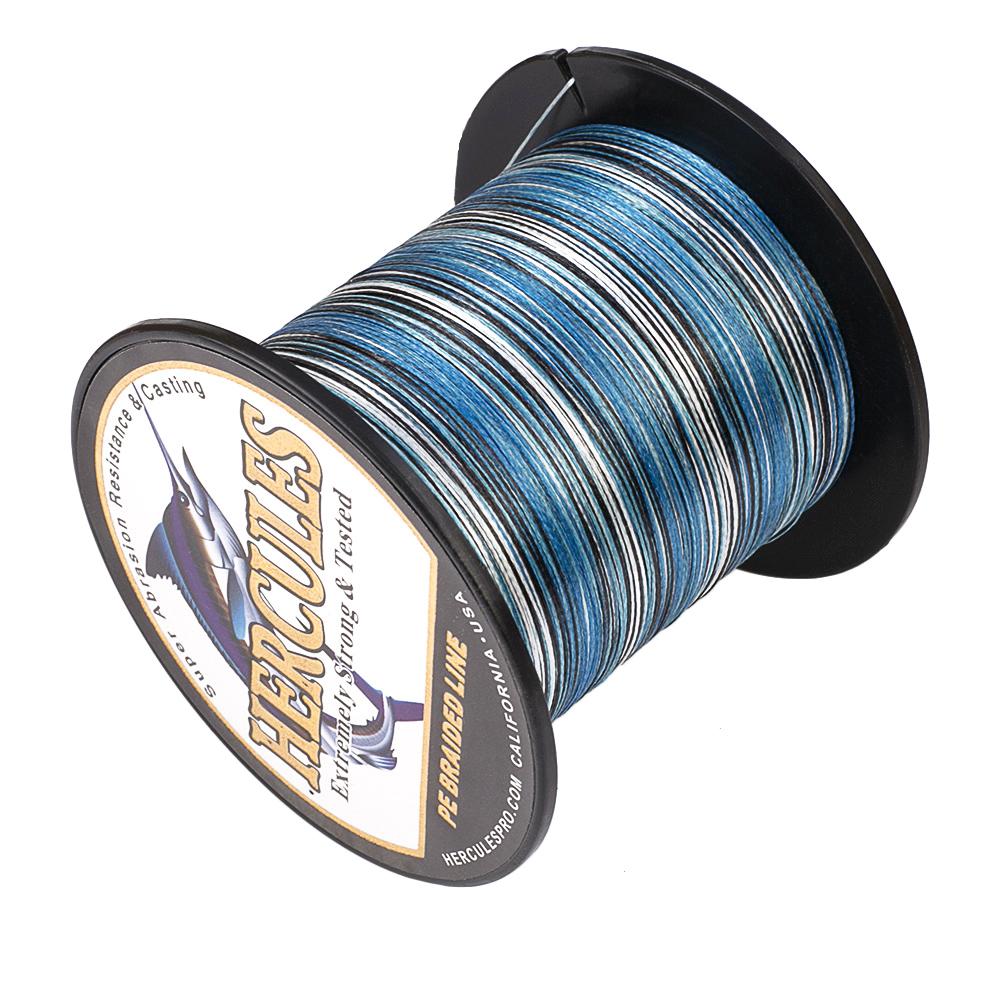 Details about  /Color Select Hercules Braid Fishing Line 1000M 1094Yds 6-100LB Test PE 4 Strands