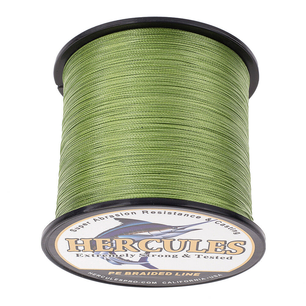 Hercules-1000M-1094-Yards-Weave-6lb-100lb-Test-4-Strands-PE-Braided-Fishing-Line thumbnail 16