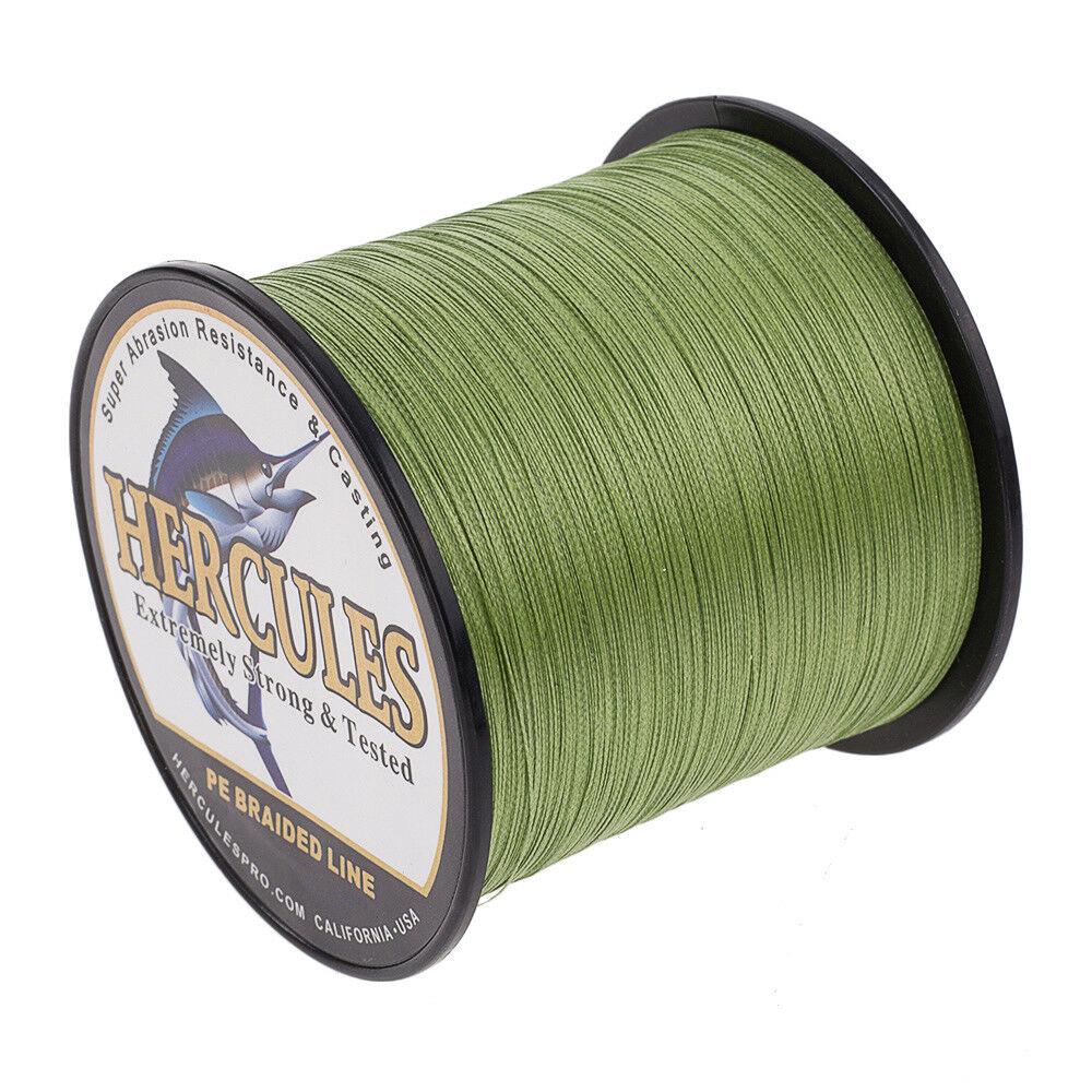Hercules-1000M-1094-Yards-Weave-6lb-100lb-Test-4-Strands-PE-Braided-Fishing-Line thumbnail 18