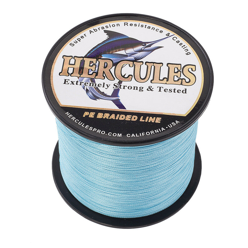 Hercules-1000M-1094-Yards-Weave-6lb-100lb-Test-4-Strands-PE-Braided-Fishing-Line thumbnail 27