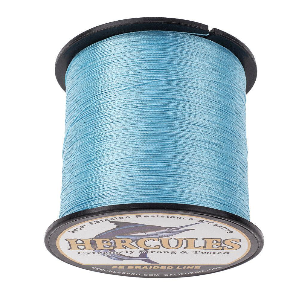 Hercules-1000M-1094-Yards-Weave-6lb-100lb-Test-4-Strands-PE-Braided-Fishing-Line thumbnail 28