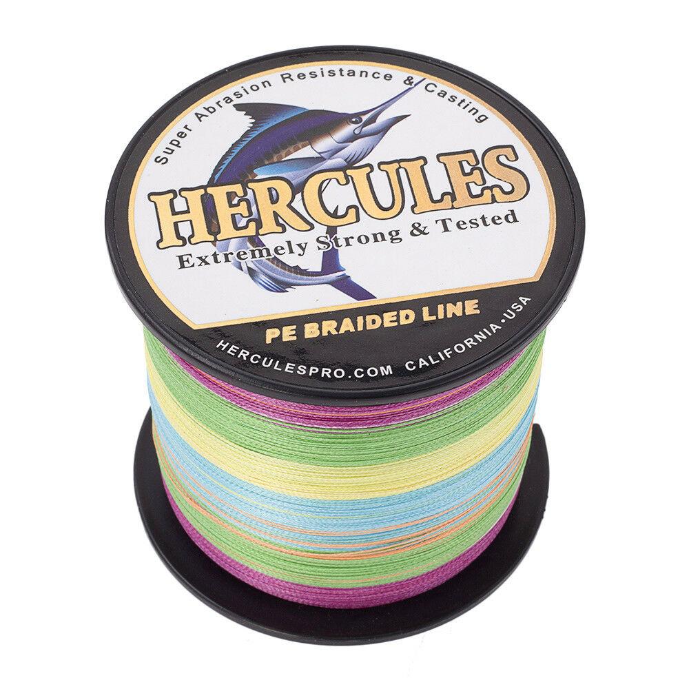 Hercules-1000M-1094-Yards-Weave-6lb-100lb-Test-4-Strands-PE-Braided-Fishing-Line thumbnail 57