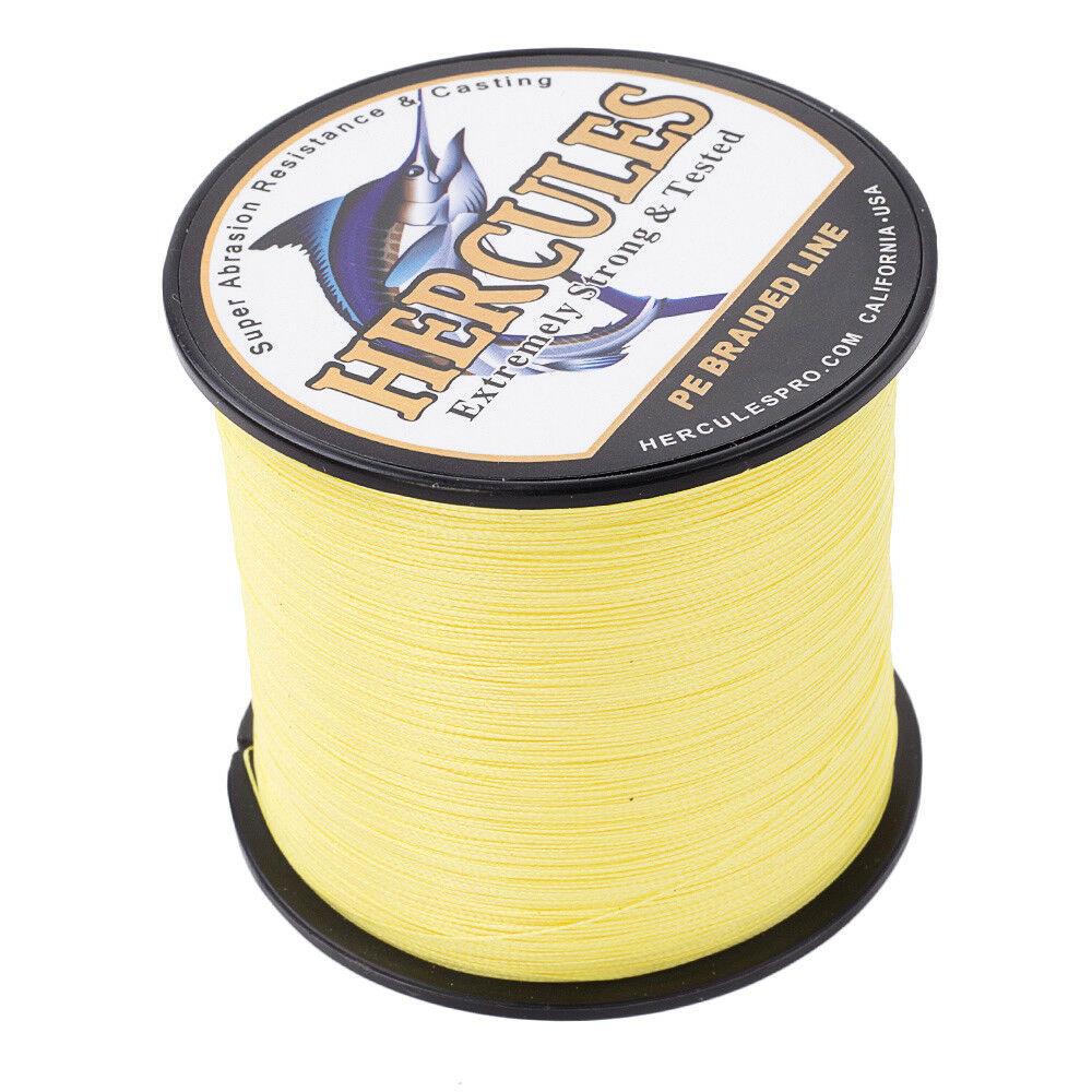 Hercules-1000M-1094-Yards-Weave-6lb-100lb-Test-4-Strands-PE-Braided-Fishing-Line thumbnail 87