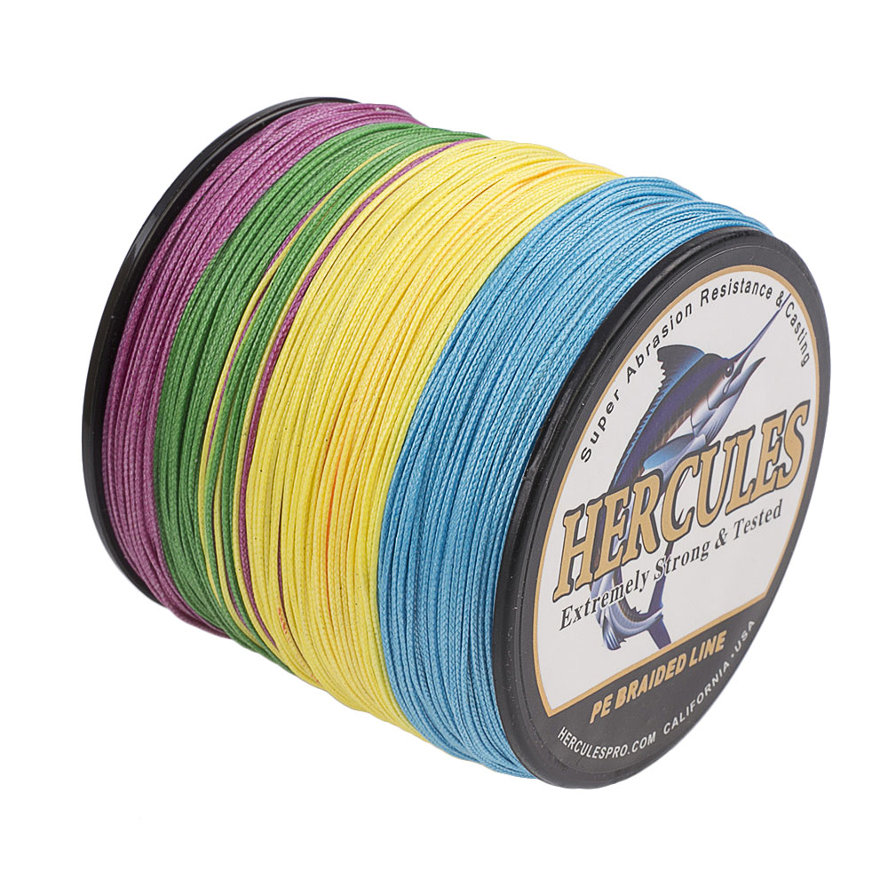 Braided-Fishing-Line-150lbs-8-Strands-PE-Hercules-100-300-500-1000-1500-2000M thumbnail 60