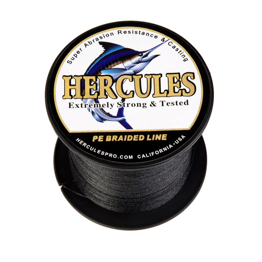 Hercules-300-500-1000m-Black-White-Gray-PE-Weave-Extreme-Braided-Fishing-Line thumbnail 18