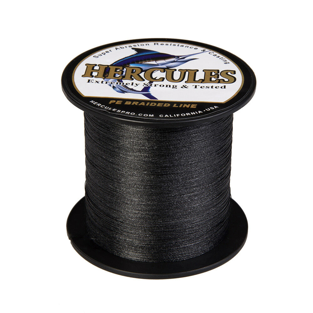 Hercules-300-500-1000m-Black-White-Gray-PE-Weave-Extreme-Braided-Fishing-Line thumbnail 17
