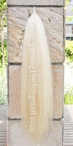 3 4Lb 28-30  New Original Pure White False Horse Tail Extension aW2 Y.J TAILS