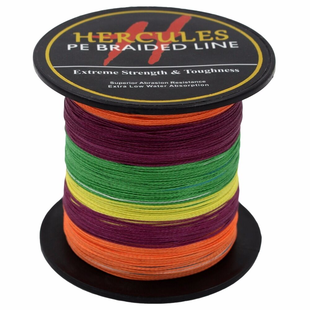 Hercules-6lb-8lb-100-PE-Strong-Braid-Fishing-Line-SuperPower-Extreme-4-Strands thumbnail 95