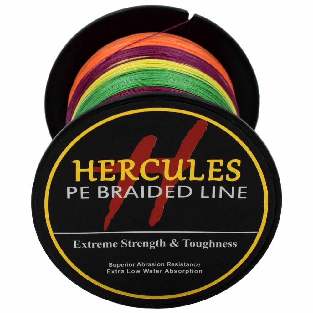 Hercules-6lb-8lb-100-PE-Strong-Braid-Fishing-Line-SuperPower-Extreme-4-Strands thumbnail 96