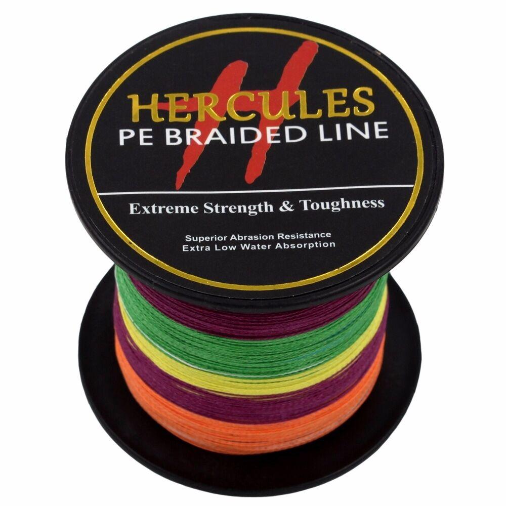 Hercules-6lb-8lb-100-PE-Strong-Braid-Fishing-Line-SuperPower-Extreme-4-Strands thumbnail 94