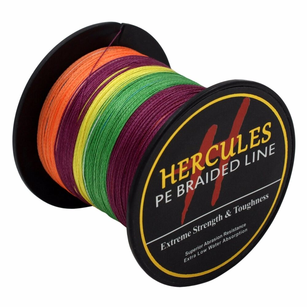 Hercules-6lb-8lb-100-PE-Strong-Braid-Fishing-Line-SuperPower-Extreme-4-Strands thumbnail 97