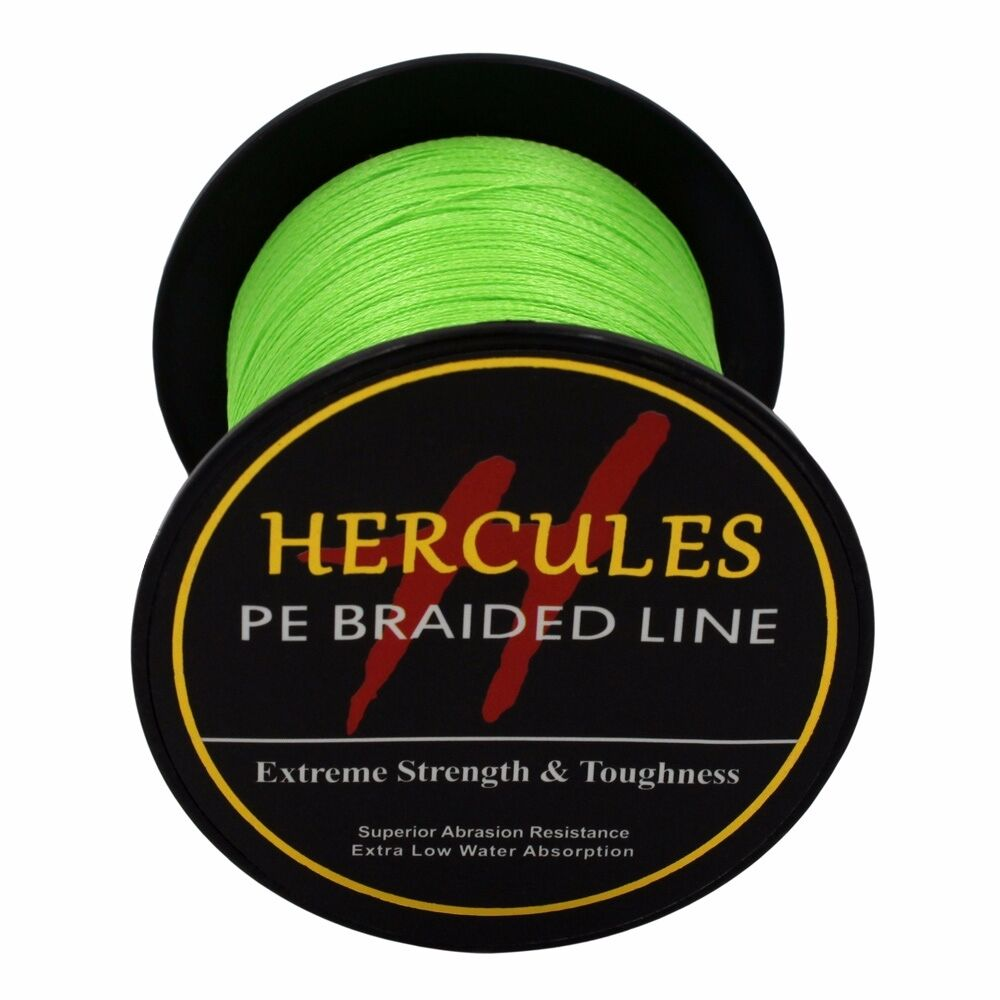 Hercules-6lb-8lb-100-PE-Strong-Braid-Fishing-Line-SuperPower-Extreme-4-Strands thumbnail 40