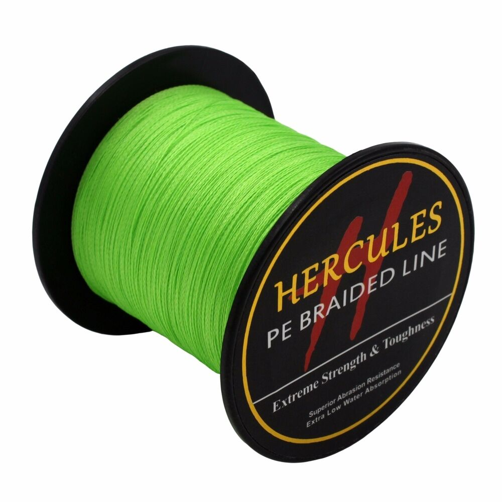 Hercules-6lb-8lb-100-PE-Strong-Braid-Fishing-Line-SuperPower-Extreme-4-Strands thumbnail 41