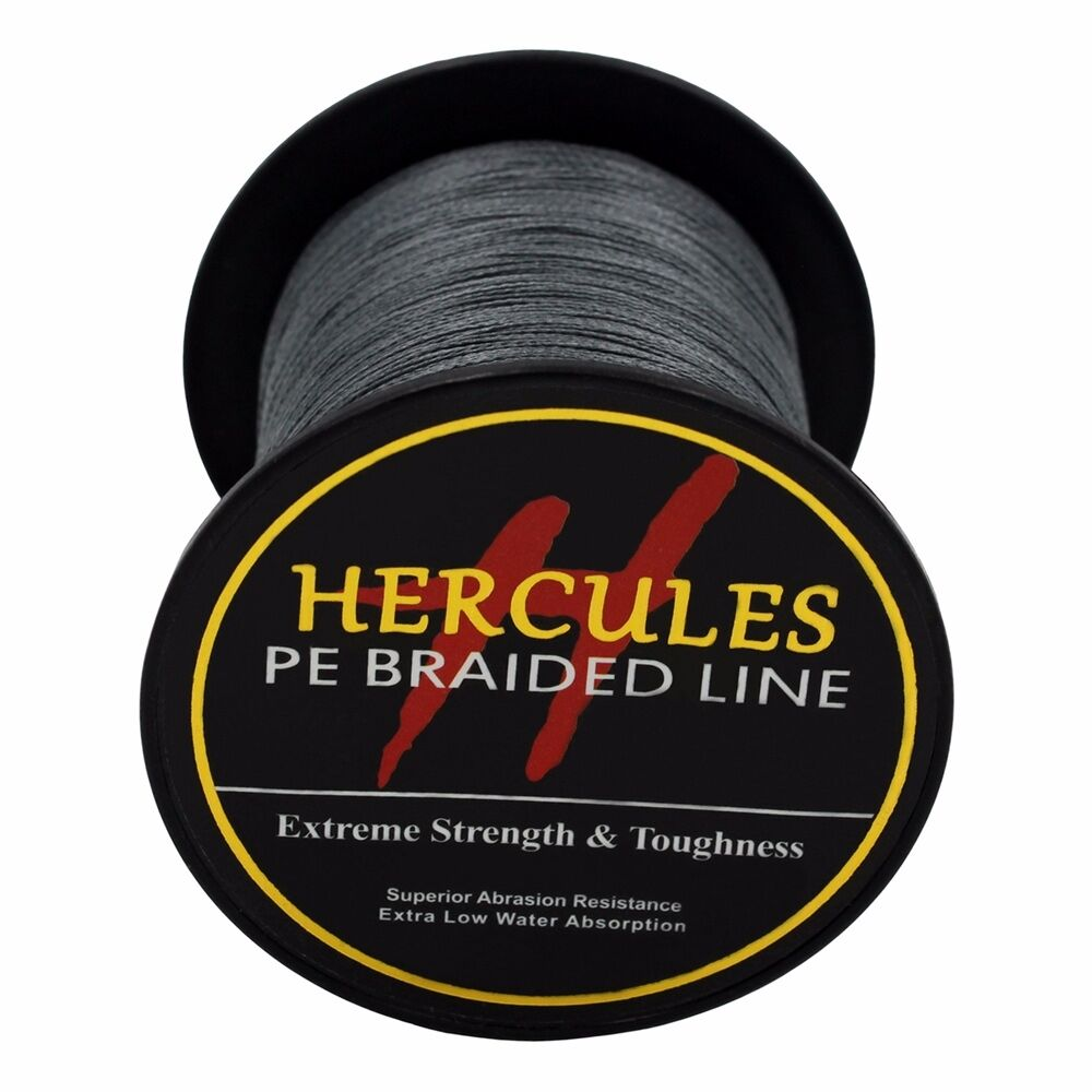 Hercules 4Strands 6lb 8lb Braid Fishing Line 100/% PE Strong Super Power Extreme