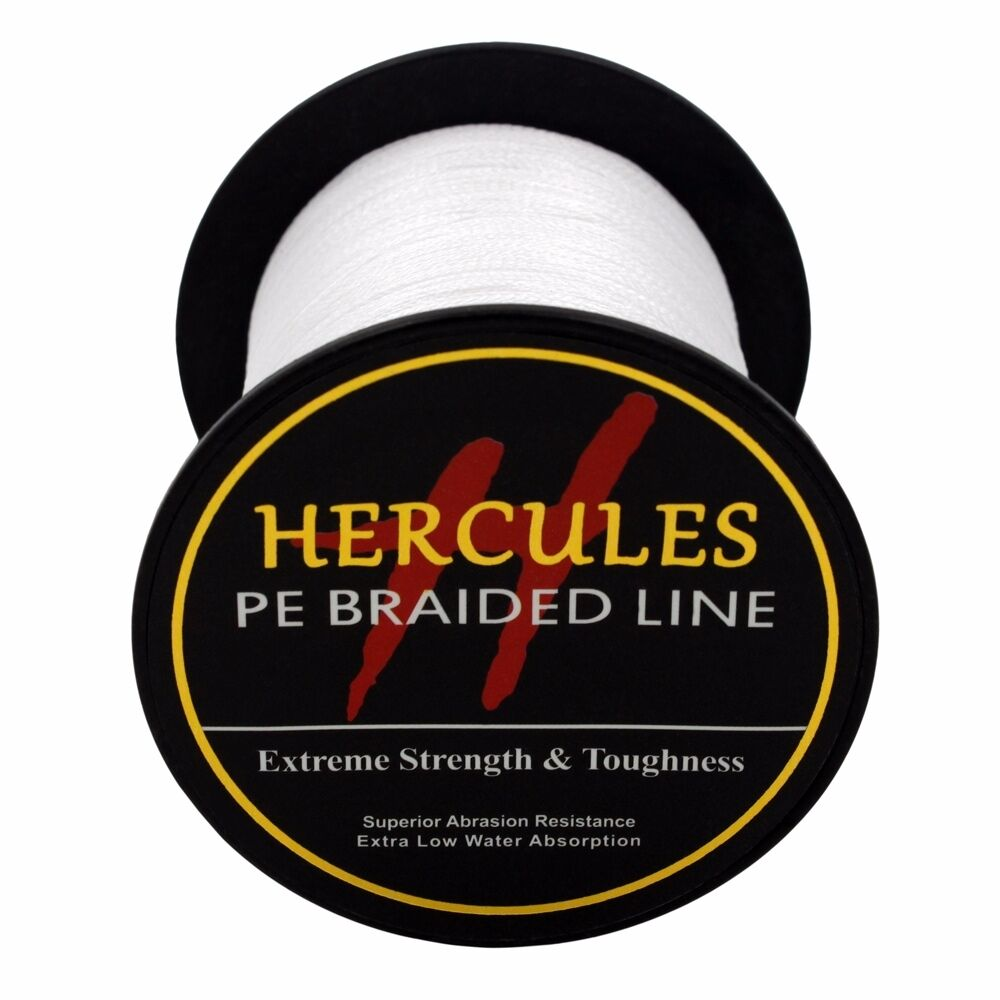 Hercules-6lb-8lb-100-PE-Strong-Braid-Fishing-Line-SuperPower-Extreme-4-Strands thumbnail 136