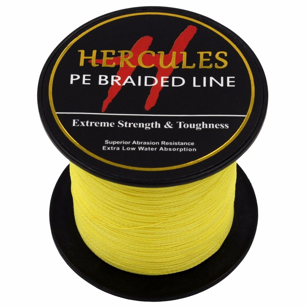 Hercules-6lb-8lb-100-PE-Strong-Braid-Fishing-Line-SuperPower-Extreme-4-Strands thumbnail 154