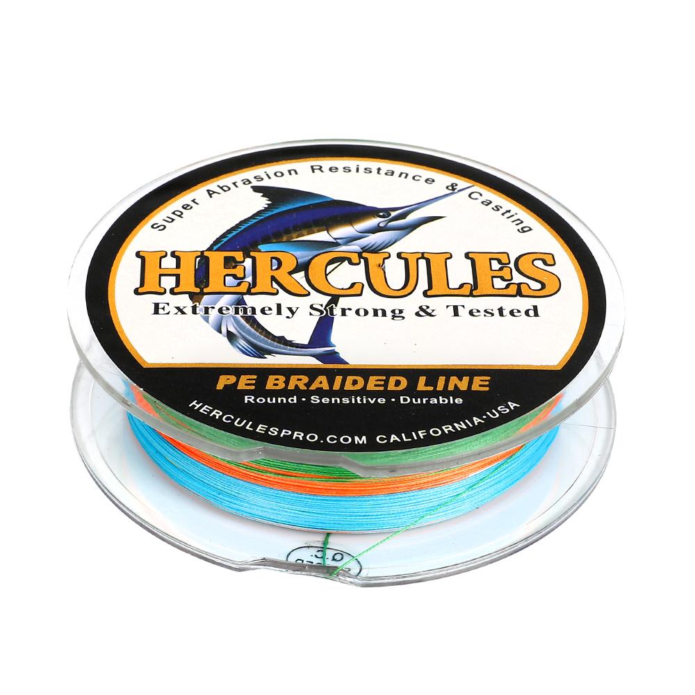 Hercules-PE-4-8-9-12-Strands-6-300lbs-Braided-Fishing-Line-Multi-Color-100-2000m miniature 17