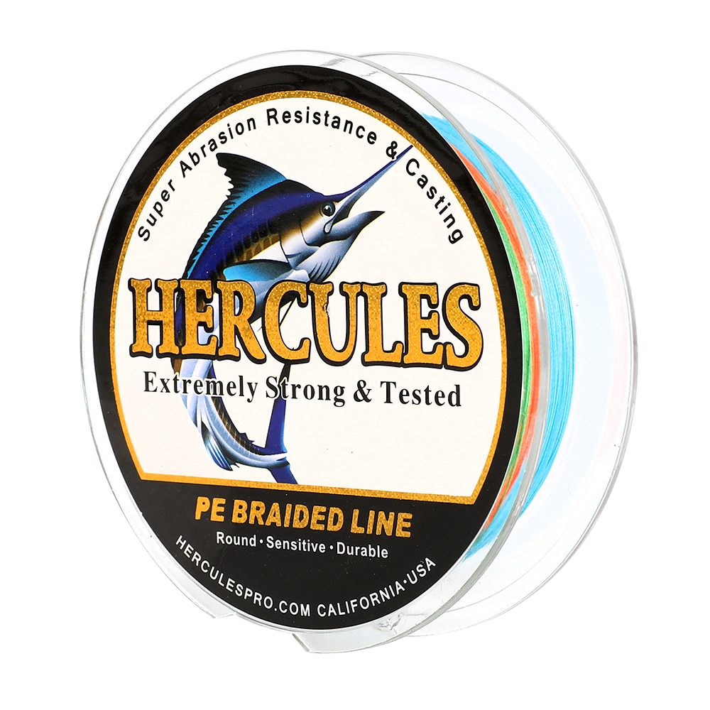Hercules-PE-4-8-9-12-Strands-6-300lbs-Braided-Fishing-Line-Multi-Color-100-2000m miniature 15