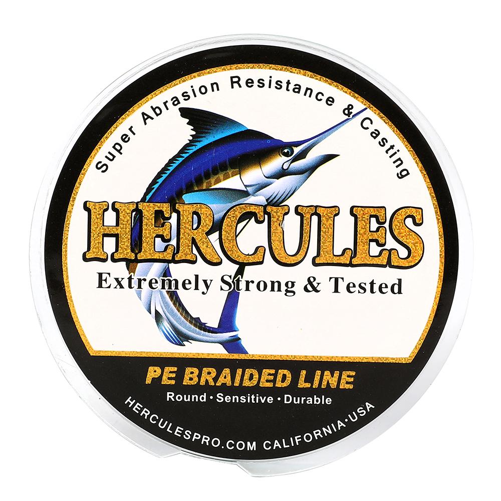 Hercules-PE-4-8-9-12-Strands-6-300lbs-Braided-Fishing-Line-Multi-Color-100-2000m miniature 14