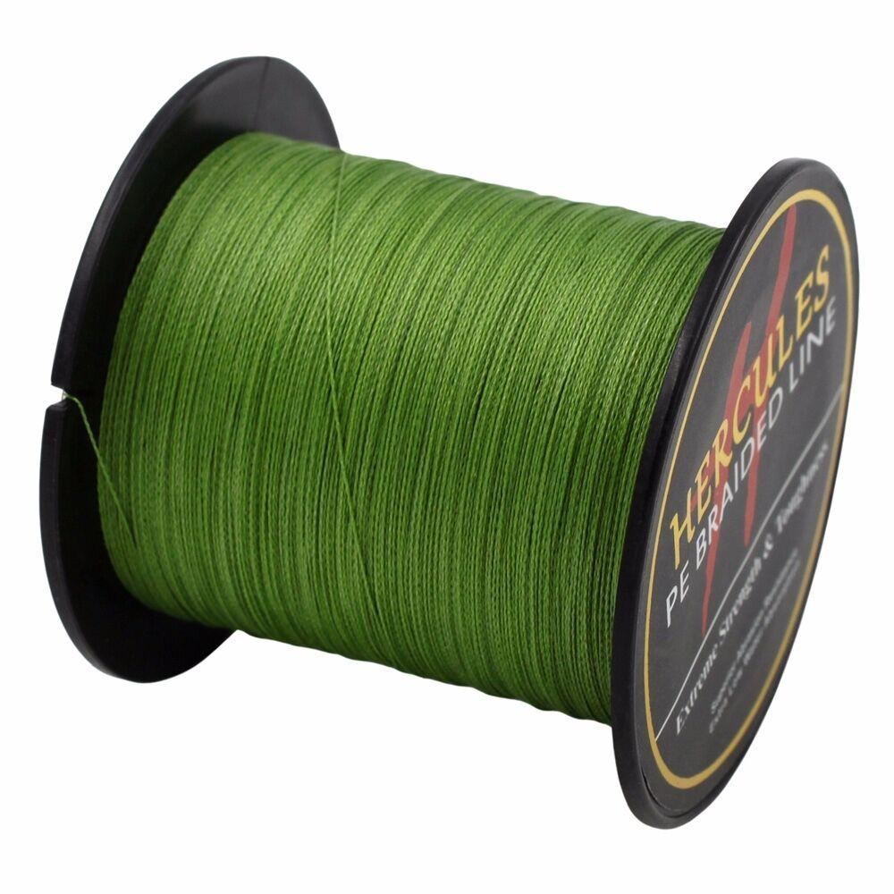 Hercules-Army-Green-Braided-100M-2000M-6lb-300lb-Extreme-PE-Super-Fishing-Line thumbnail 25
