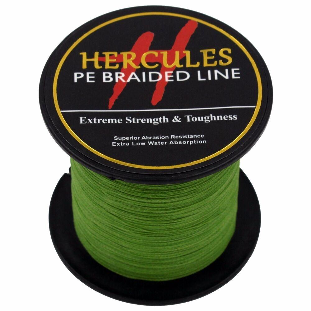 Hercules-Army-Green-Braided-100M-2000M-6lb-300lb-Extreme-PE-Super-Fishing-Line thumbnail 29