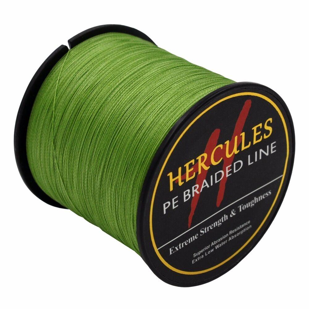 Hercules-Army-Green-Braided-100M-2000M-6lb-300lb-Extreme-PE-Super-Fishing-Line thumbnail 36