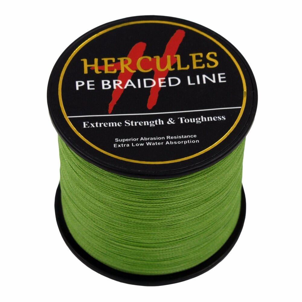 Hercules-Army-Green-Braided-100M-2000M-6lb-300lb-Extreme-PE-Super-Fishing-Line thumbnail 53