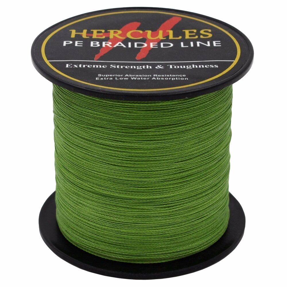 Hercules-Army-Green-Braided-100M-2000M-6lb-300lb-Extreme-PE-Super-Fishing-Line thumbnail 66