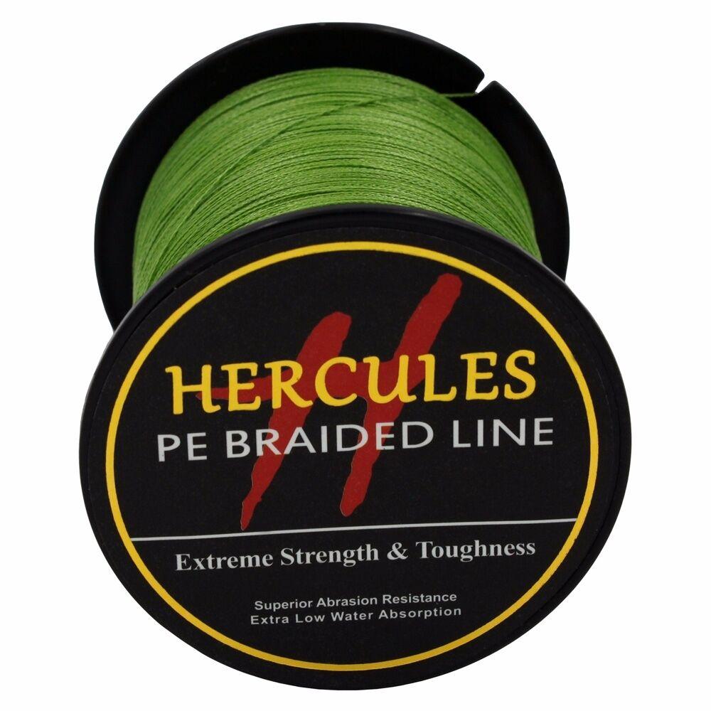 Hercules-Army-Green-Braided-100M-2000M-6lb-300lb-Extreme-PE-Super-Fishing-Line thumbnail 59