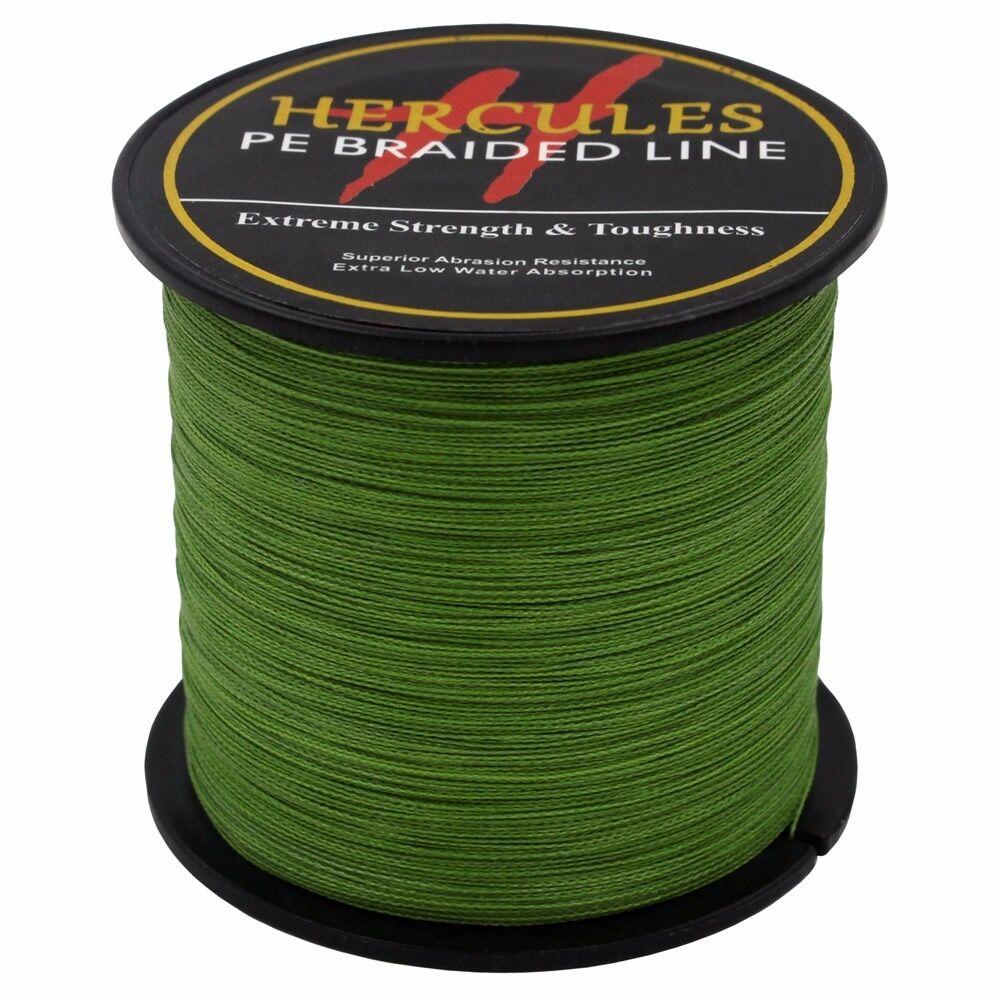 Hercules-Army-Green-Braided-100M-2000M-6lb-300lb-Extreme-PE-Super-Fishing-Line thumbnail 78