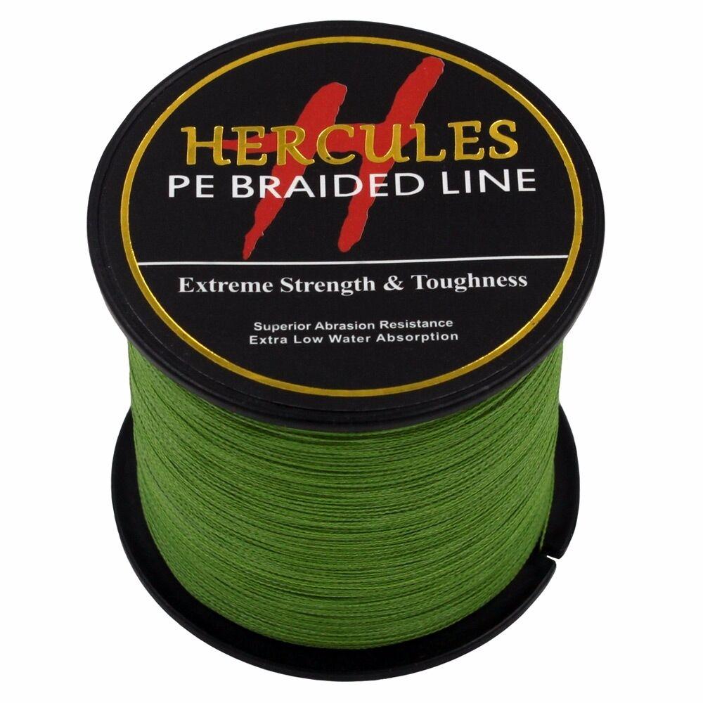 Hercules-Army-Green-Braided-100M-2000M-6lb-300lb-Extreme-PE-Super-Fishing-Line thumbnail 77