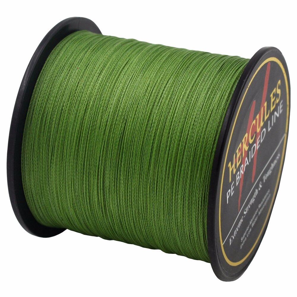 Hercules-Army-Green-Braided-100M-2000M-6lb-300lb-Extreme-PE-Super-Fishing-Line thumbnail 73