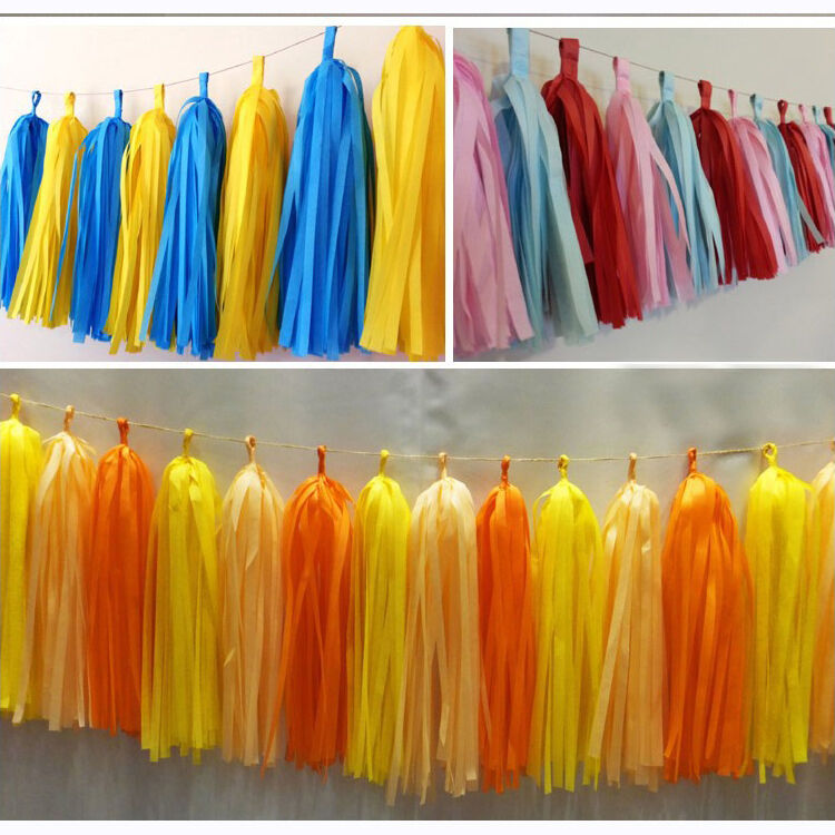 50-x-Tissue-Paper-Tassels-Garlands-Bunting-Wedding-Party-Decoration-Balloon-Tail thumbnail 9