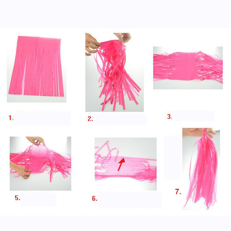 50-x-Tissue-Paper-Tassels-Garlands-Bunting-Wedding-Party-Decoration-Balloon-Tail thumbnail 11
