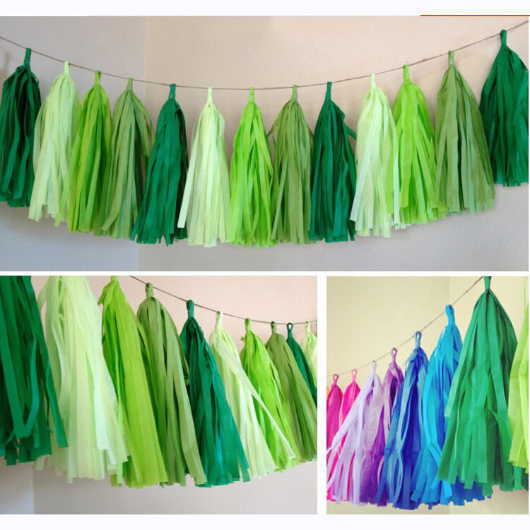 50-x-Tissue-Paper-Tassels-Garlands-Bunting-Wedding-Party-Decoration-Balloon-Tail thumbnail 10