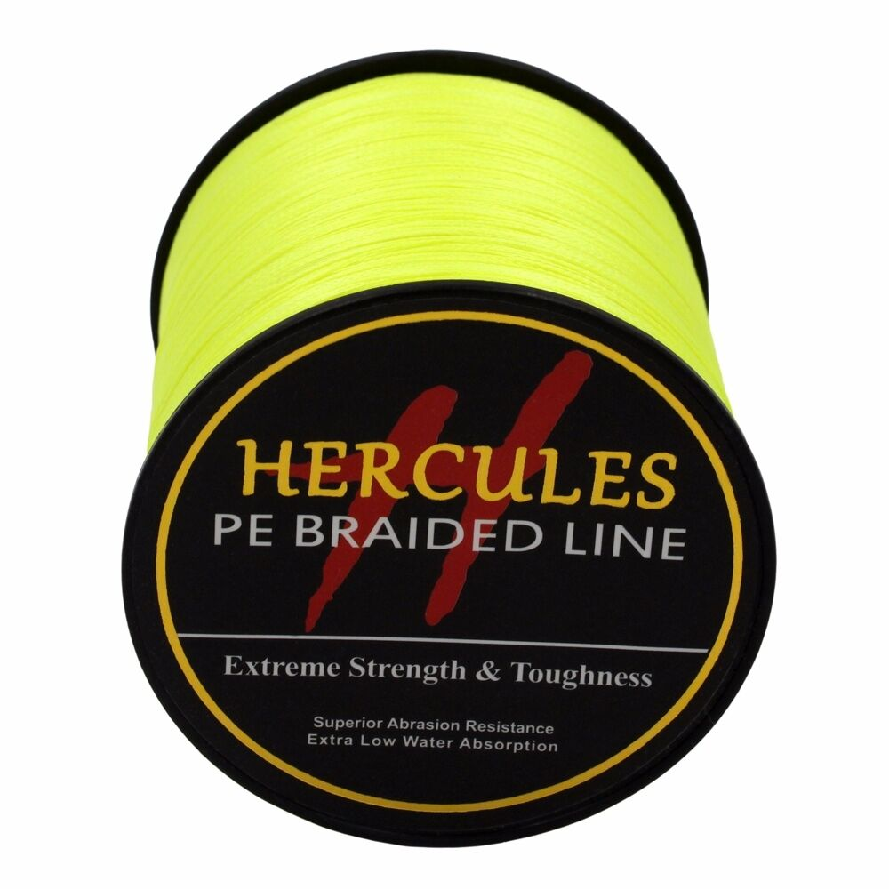 100-PE-2000M-2187Yds-6-100lb-Hercules-Ligne-de-peche-Tressee-Strong-4-Strands miniature 52