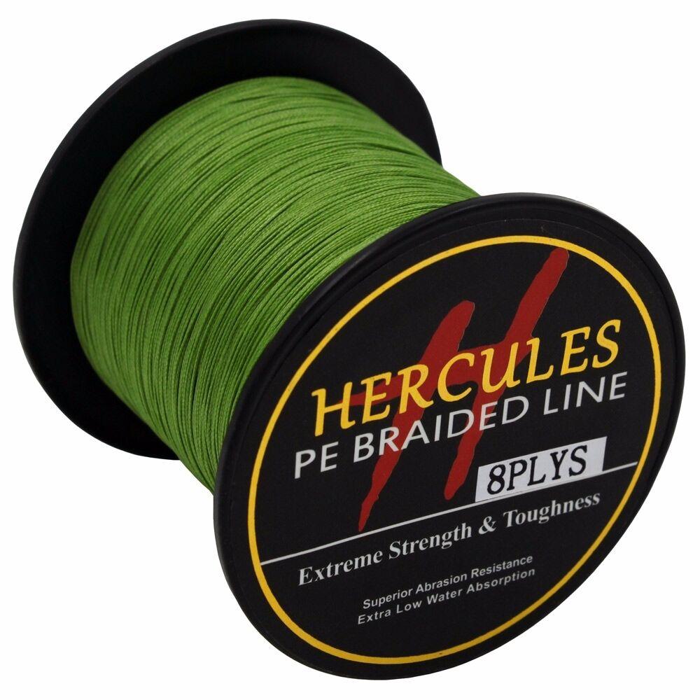 8-brins-ligne-de-peche-tressee-100M-10-300lb-Super-Hercules-Braid-Fishing-Line miniature 152