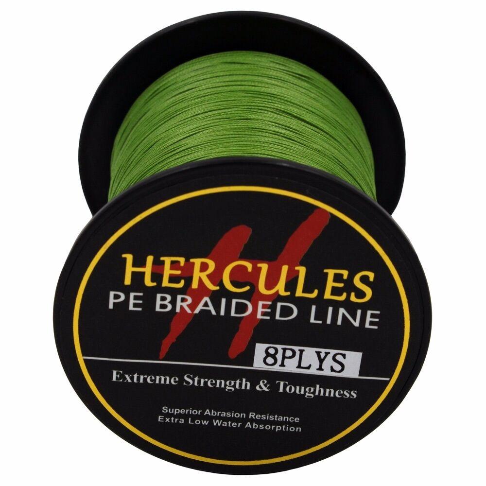 8-brins-ligne-de-peche-tressee-100M-10-300lb-Super-Hercules-Braid-Fishing-Line miniature 151