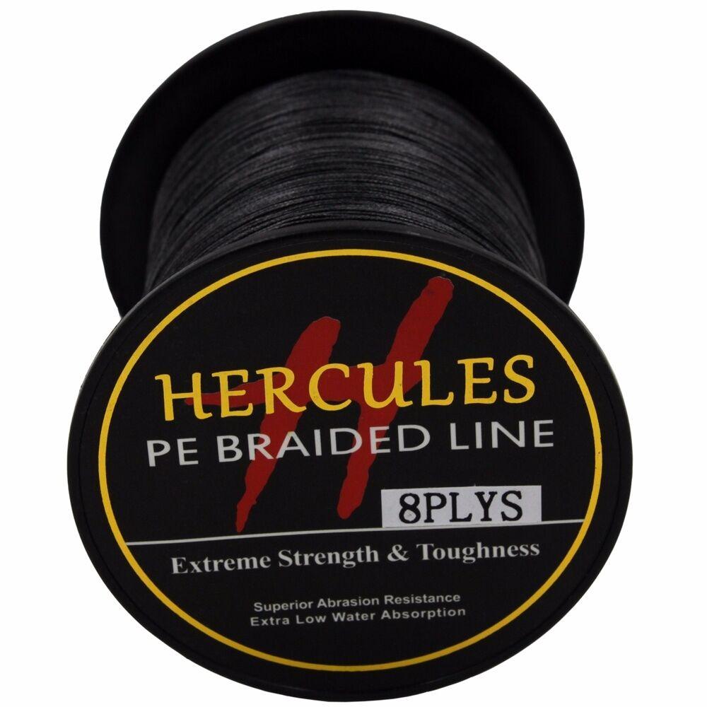 8-brins-ligne-de-peche-tressee-100M-10-300lb-Super-Hercules-Braid-Fishing-Line miniature 83
