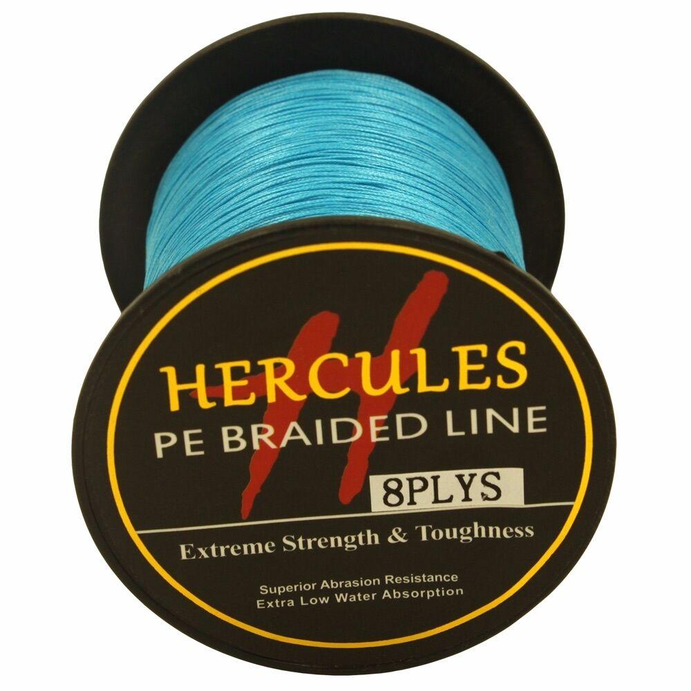 8-brins-ligne-de-peche-tressee-100M-10-300lb-Super-Hercules-Braid-Fishing-Line miniature 23
