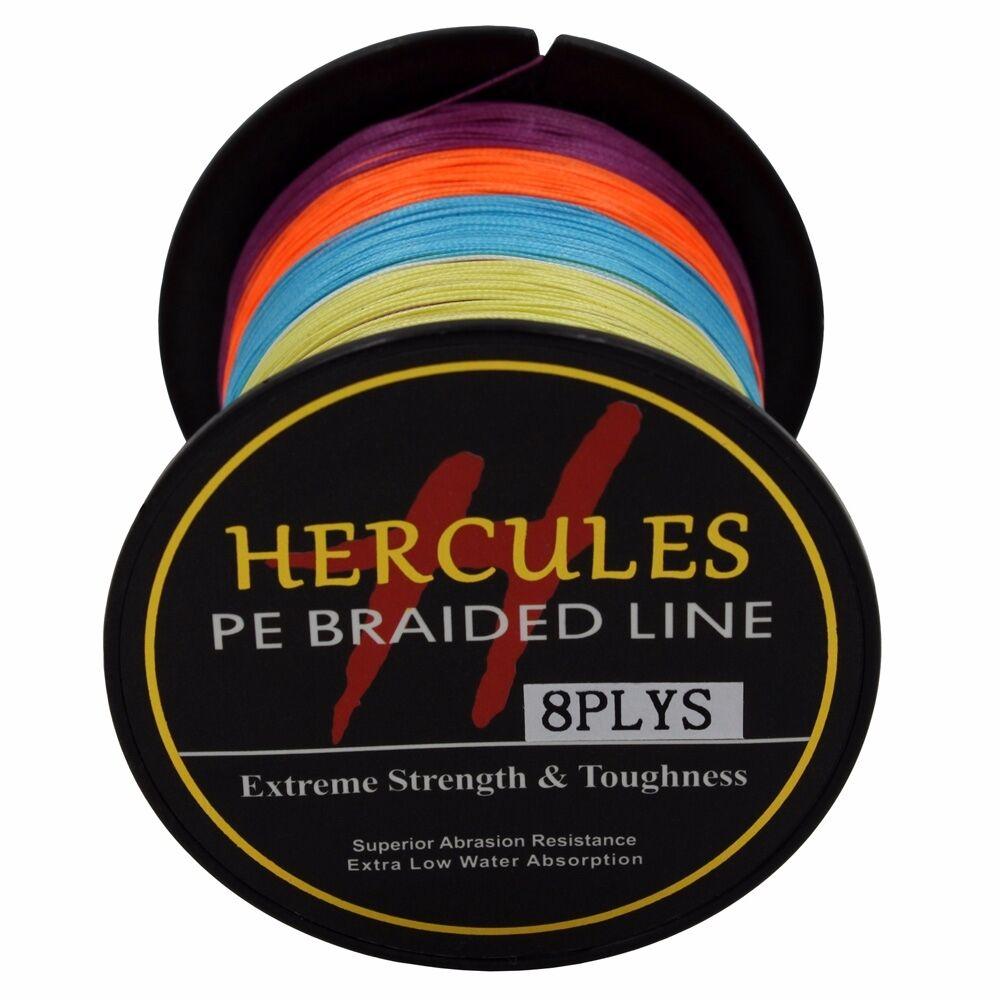 8-brins-ligne-de-peche-tressee-100M-10-300lb-Super-Hercules-Braid-Fishing-Line miniature 71