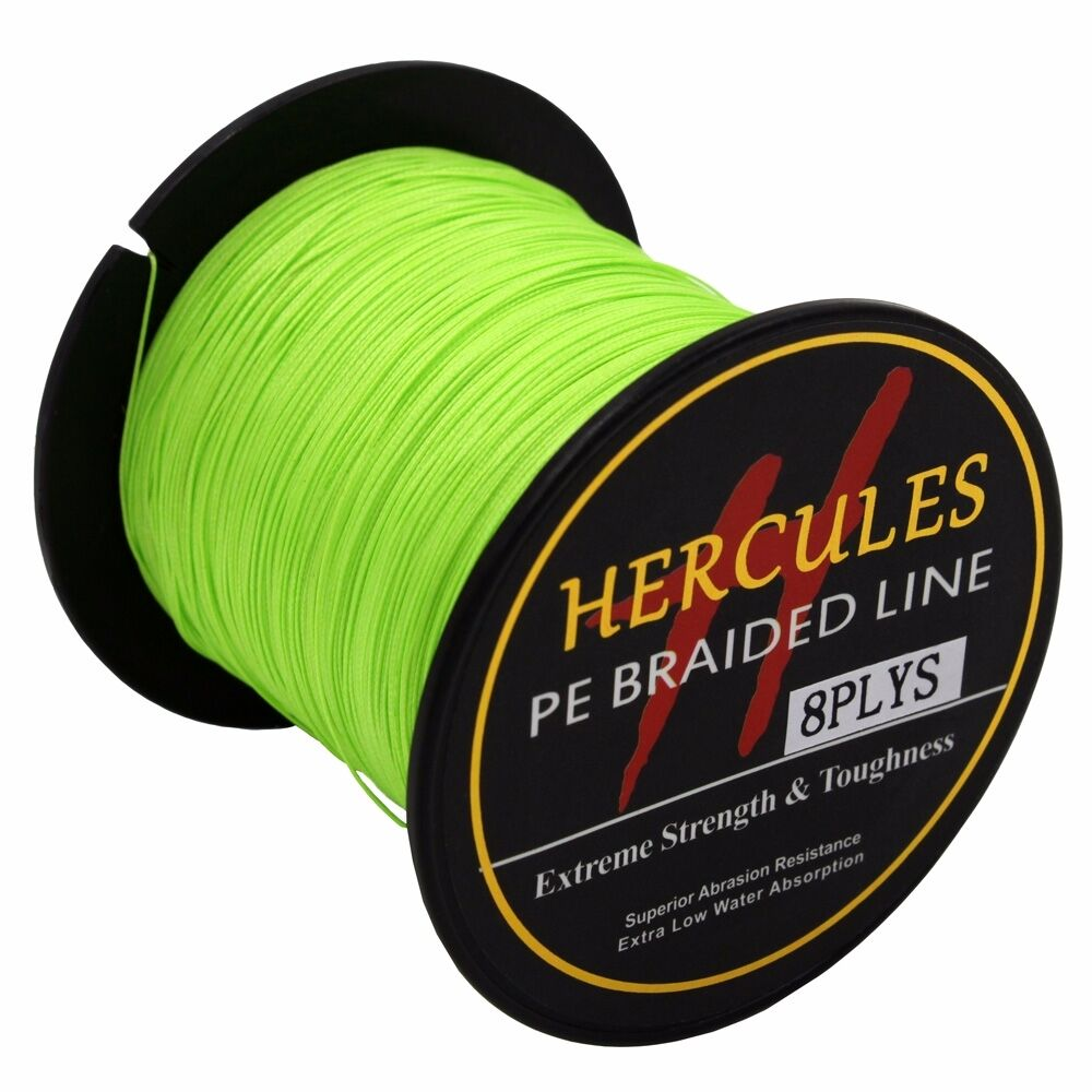 8-brins-ligne-de-peche-tressee-100M-10-300lb-Super-Hercules-Braid-Fishing-Line miniature 164