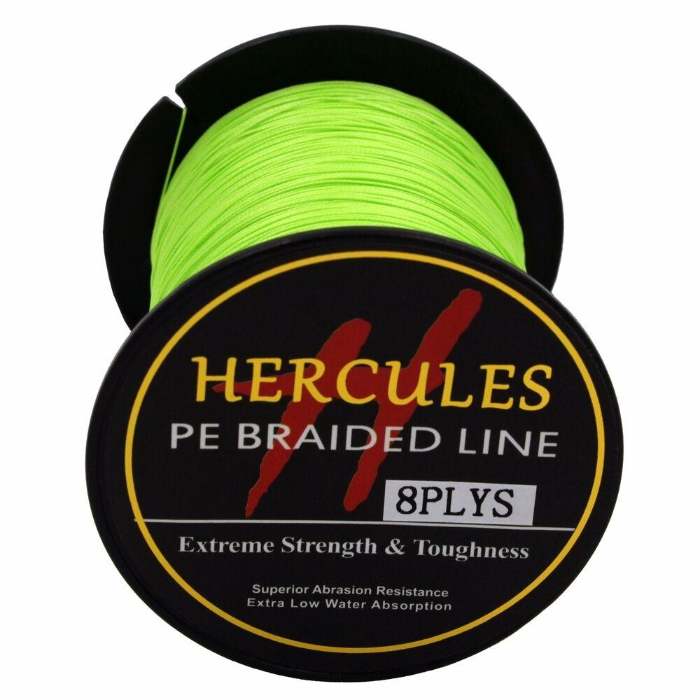 8-brins-ligne-de-peche-tressee-100M-10-300lb-Super-Hercules-Braid-Fishing-Line miniature 155