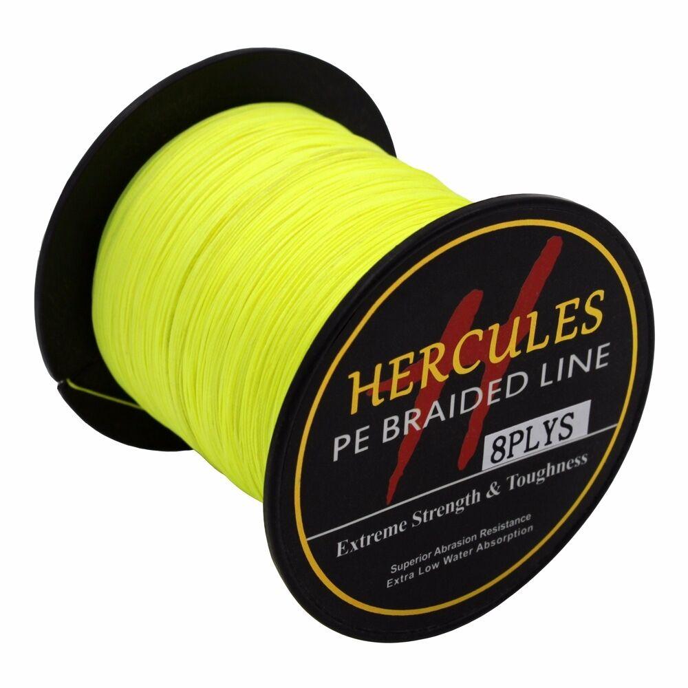 8-brins-ligne-de-peche-tressee-100M-10-300lb-Super-Hercules-Braid-Fishing-Line miniature 60