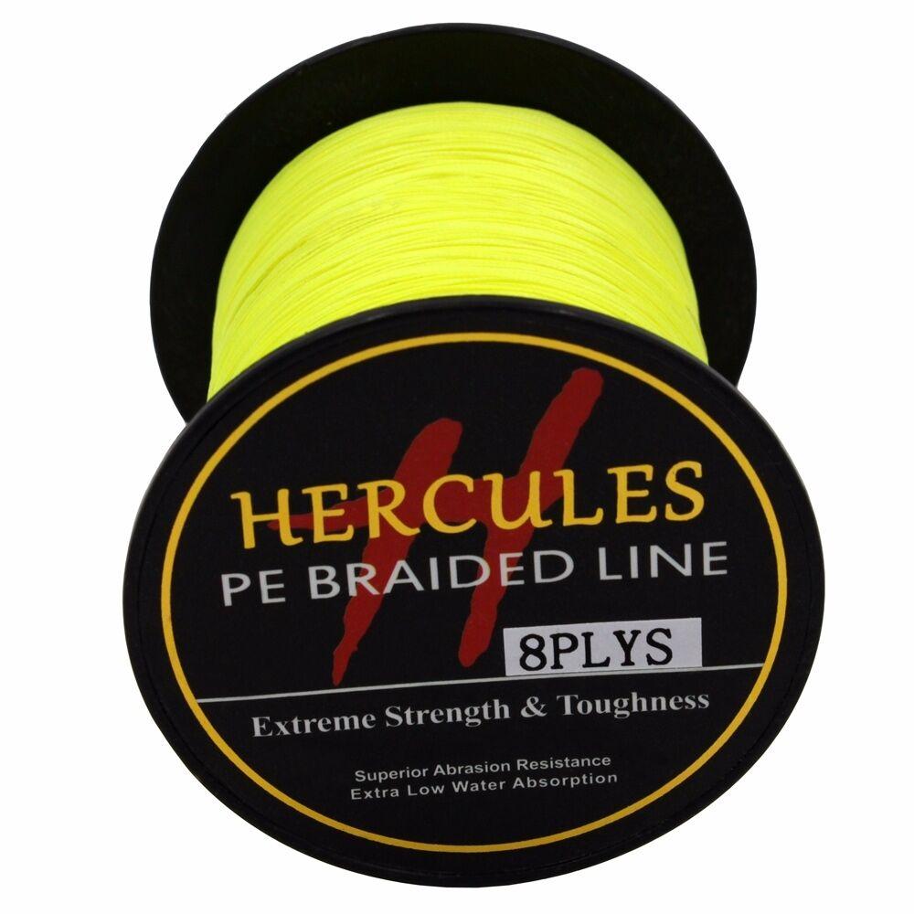 8-brins-ligne-de-peche-tressee-100M-10-300lb-Super-Hercules-Braid-Fishing-Line miniature 67