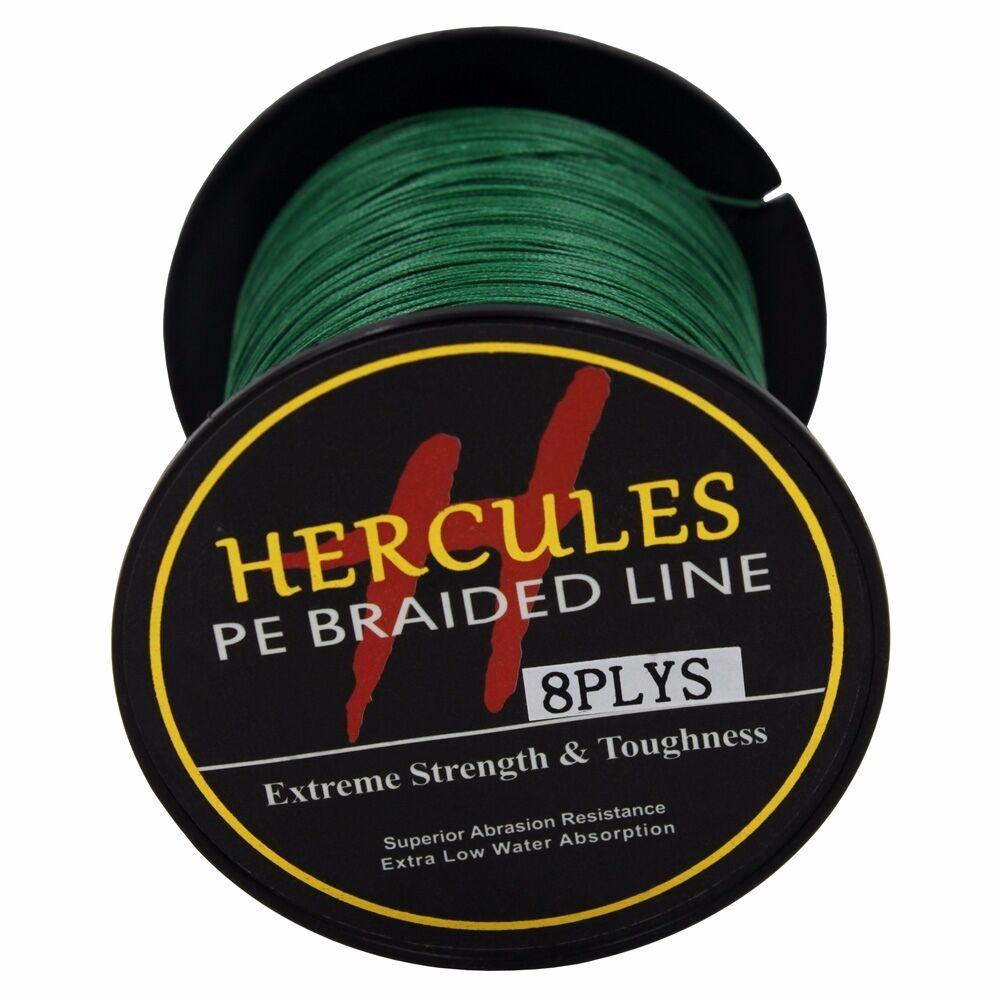 8-brins-ligne-de-peche-tressee-100M-10-300lb-Super-Hercules-Braid-Fishing-Line miniature 131
