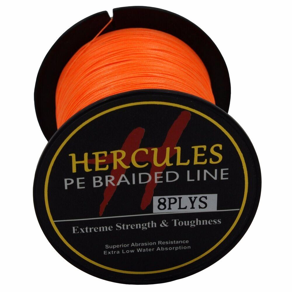 8-brins-ligne-de-peche-tressee-100M-10-300lb-Super-Hercules-Braid-Fishing-Line miniature 103