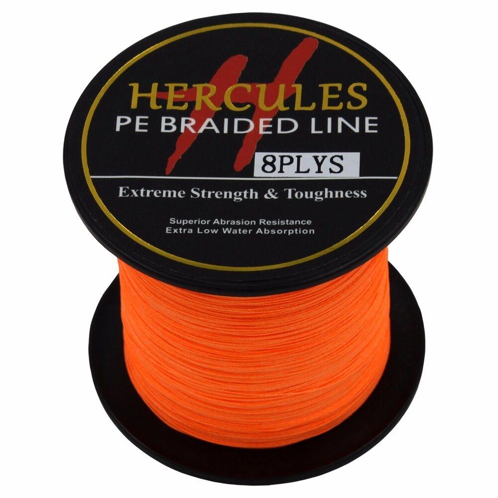 8-brins-ligne-de-peche-tressee-100M-10-300lb-Super-Hercules-Braid-Fishing-Line miniature 101