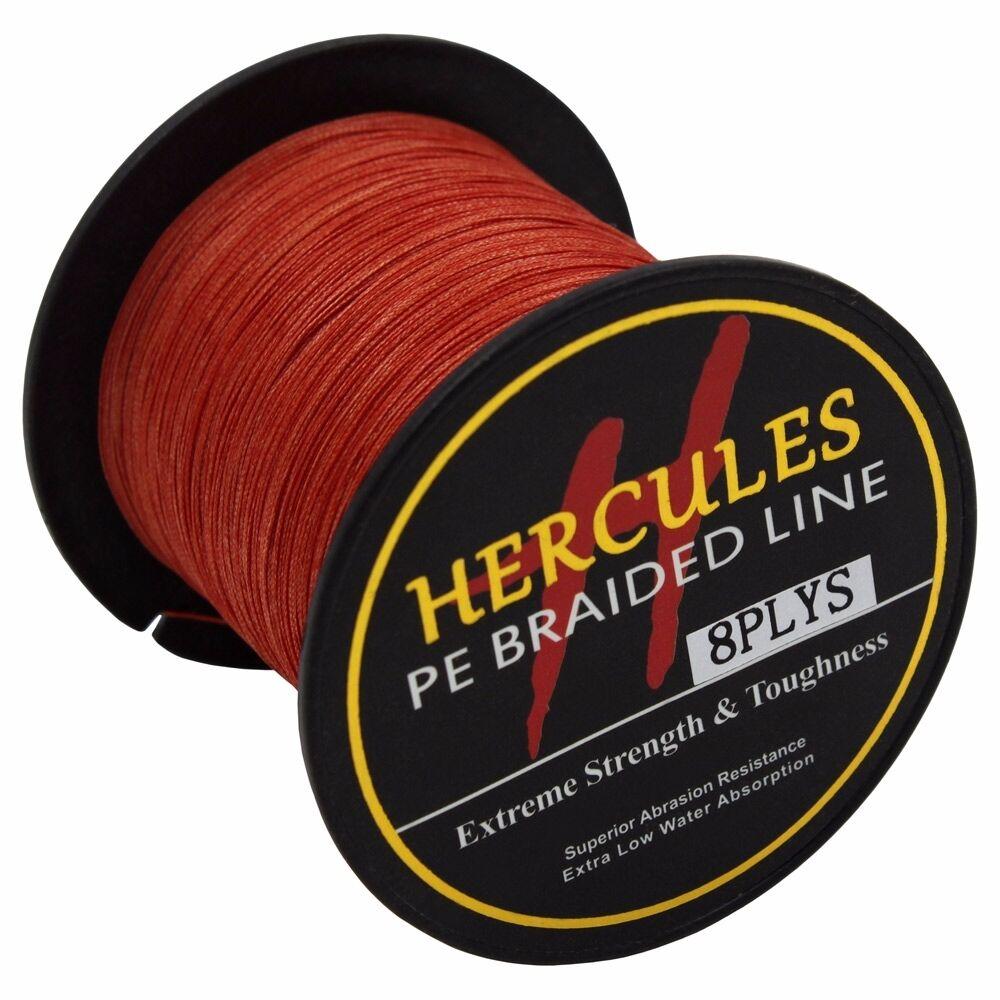 8-brins-ligne-de-peche-tressee-100M-10-300lb-Super-Hercules-Braid-Fishing-Line miniature 128